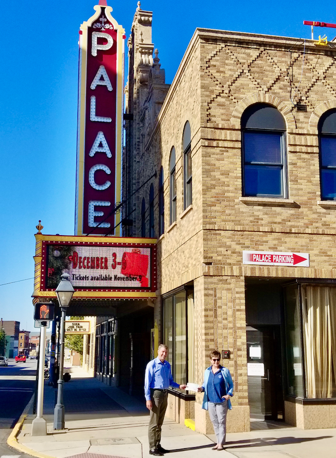 Grant presented to the Marion Palace Theatre